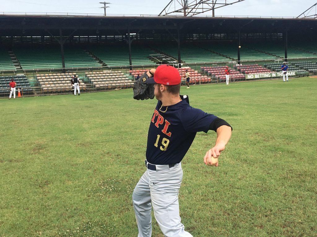 Silver Glovez 2019 prospect pitchers loosen up.