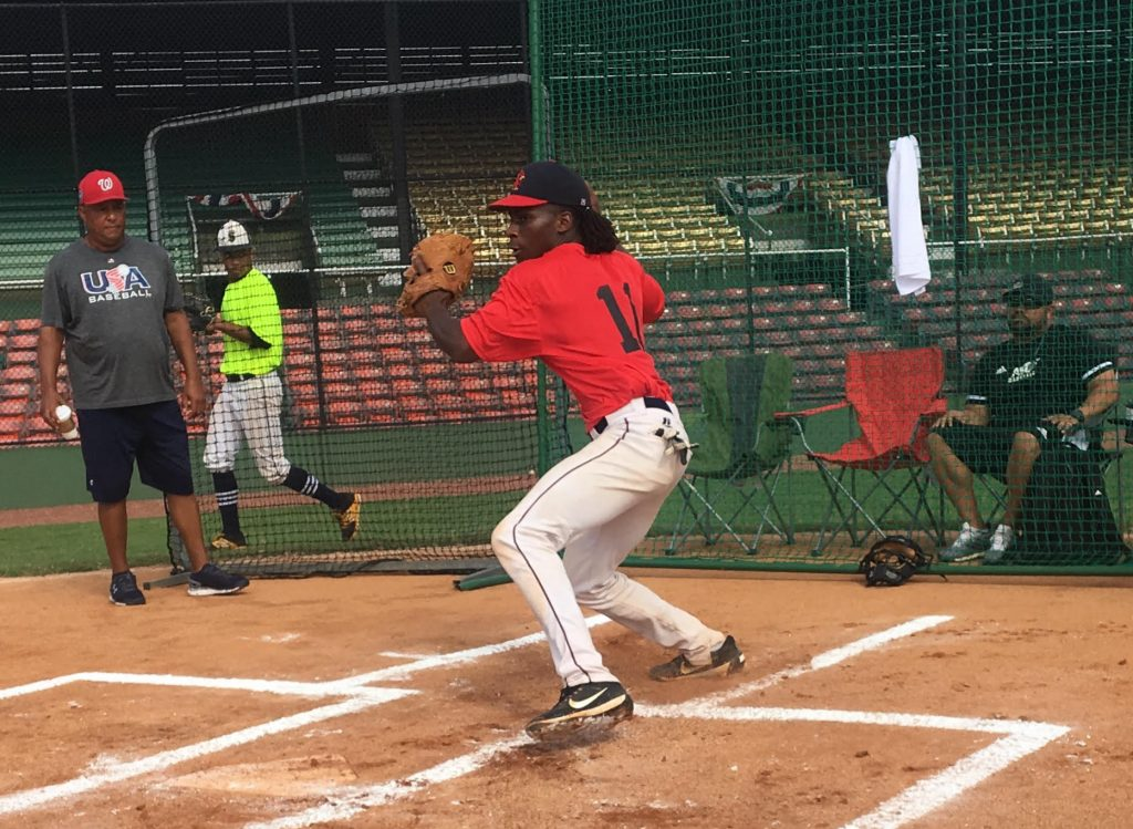 Silver Glovez 2019 catcher prospects pop time evaluated by MLB & college coaches